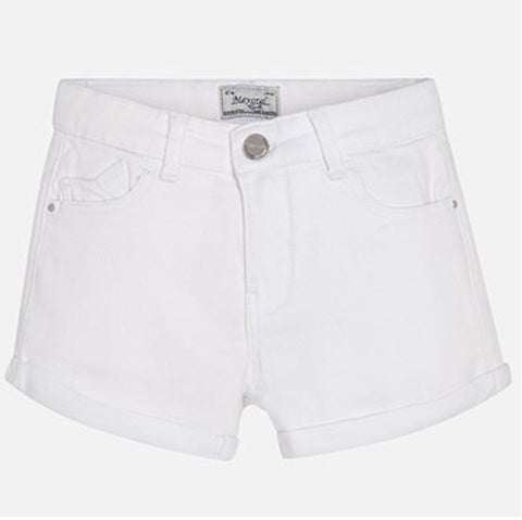 Mayoral White Twill Shorts #275
