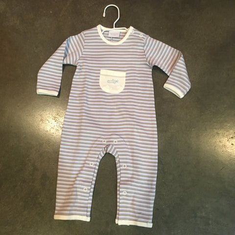 Striped Coverall with Airplane pocket Infant Boy Squiggles by Charlie  5463  Fall 2019