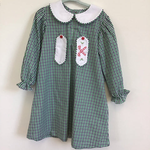 Green Plaid Candy Cane Apron Dress - Remember Nguyen Fall 2019 629ad19