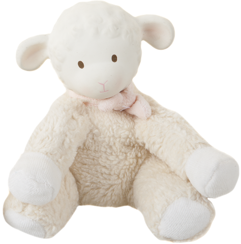 Lila the Lamb Organic Sitting Toy - Meiya & Alvin