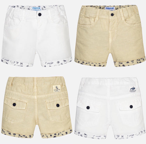 Baby Boy Linen Shorts - Mayoral 1292 - Spring 2018