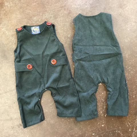 Corduroy Boys Longall in Hunter Green - Emma Jean Fall 2019  1088