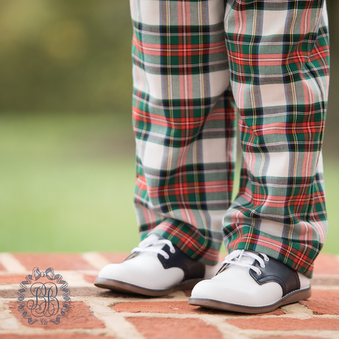 Princeton Pants in Aiken Place Plaid w/ Nantucket Navy - The Beaufort Bonnet Company