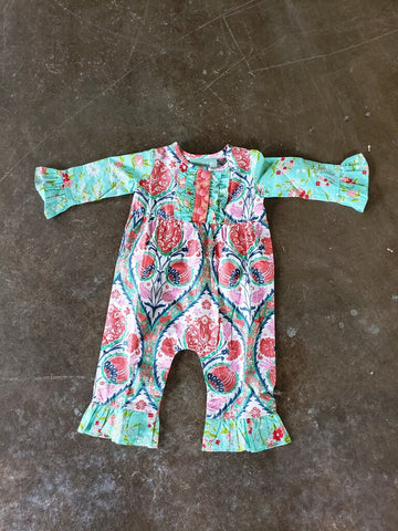 Sage & Lilly Quinn Romper -  Calypso Coral Print Fall 2018 -6145