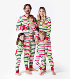 Christmas Stripe Kids Unionsuit - Little Blue House By: Hatley