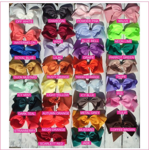 Basic 8-inch Solid Color Hair Bow