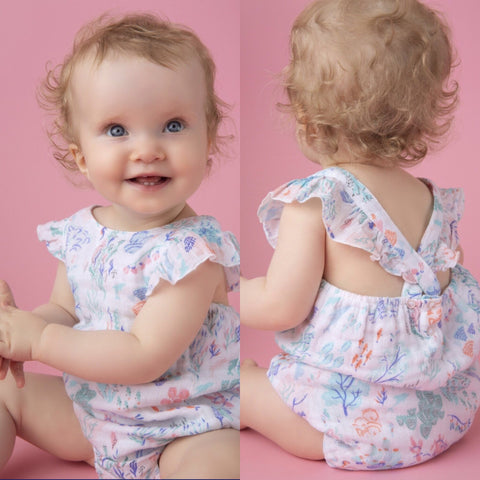 Ditsy Seaworld Muslin Sunsuit - Angel Dear Spring 2019 749