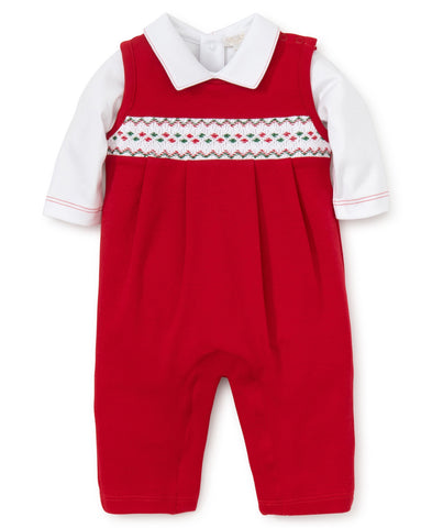 Kissy Kissy Hand Smock Overall Set (Boys) CLB Holiday  - Fall 2018