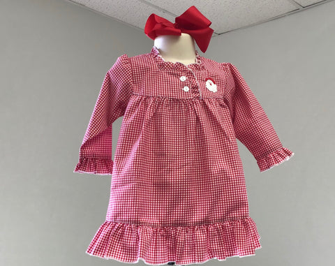 Red Gingham Santa Gown Girls Sweet Dreams 423 Fall 2019