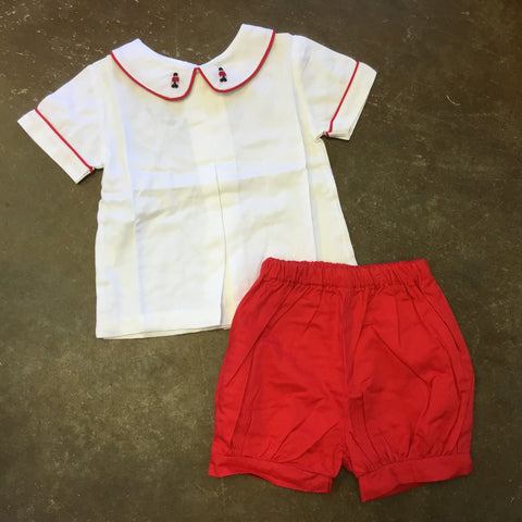 Hendrix Toy Soldier Short Set in Red - The Oaks Apparel 5535