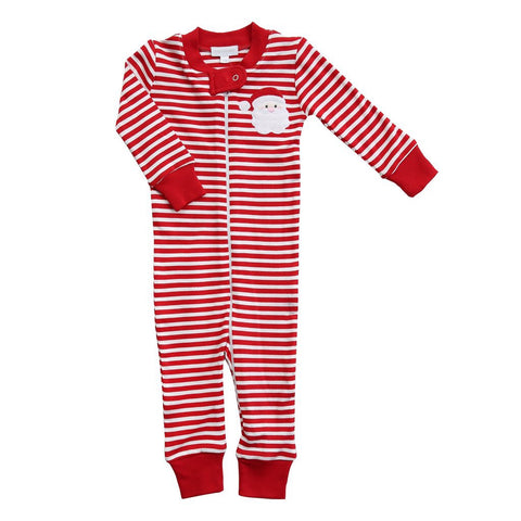Santa Applique Zipped Pajamas - Magnolia Baby Fall 2019 5500