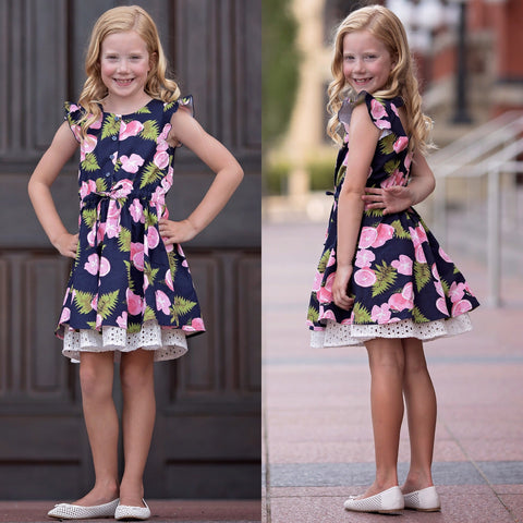 Pink Lemonade Stand Dress Mabel & Honey 381- Spring 2020