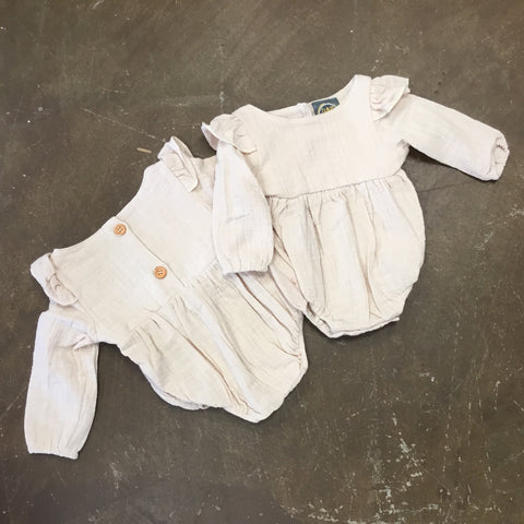 Blake Bubble w/ Angel Sleeves in Oatmeal - Emma Jean Fall 2019  1070