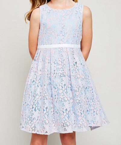 Bow Tie Eyelet Dress G4152  - Hayden Los Angeles
