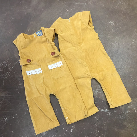 Morgan Romper w/ Lace in Mustard - Emma Jean Fall 2019  1074