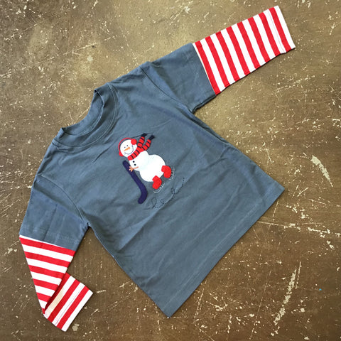 Snowman Playing Hockey Tshirt- Luigi Fall 2019 5497