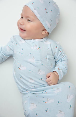 Blue Bunnies Bamboo Beanie - Angel Dear  777