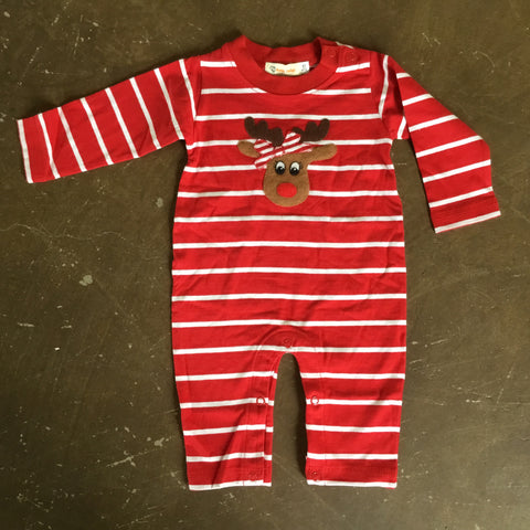 Girls Reindeer L/S Romper - Luigi Kids by: Acvisa 943