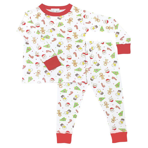 Cookies for Santa Long Sleeve Pajamas w/ Red - Magnolia Baby Fall 2019