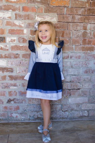 Nativity Embroidered Dress 114 - Evie's Closet