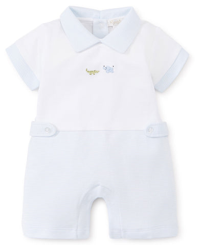 Kissy Kissy Short Playsuit in SCE Animal Crackers (Boys) - Spring 2019