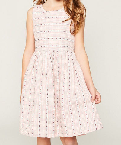 Babydoll Dress With Bow Detail G4154  - Hayden Los Angeles