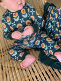 Sunflowers Long Sleeve Pajama Set - Kozi & Co Fall 2019