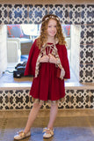 Red & Gold Trim Dress 167 - Evie's Closet