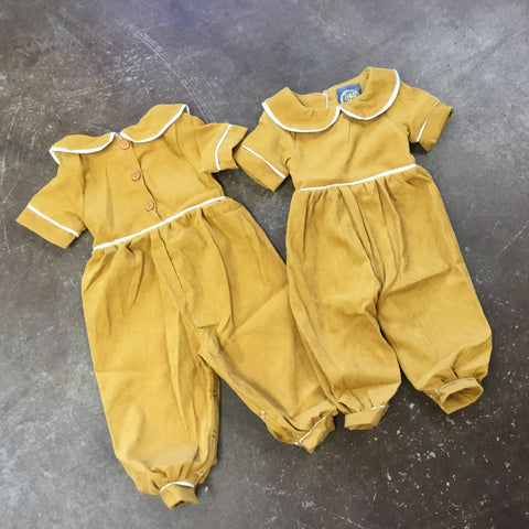 Mono Collar Bubble Longall in Mustard - Emma Jean Fall 2019  1091