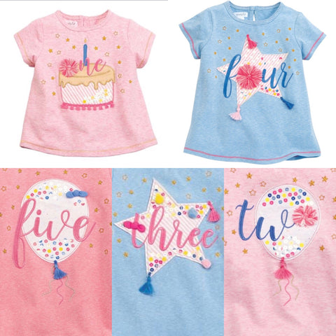 Birthday Girl Tees - Mud Pie Spring 2019