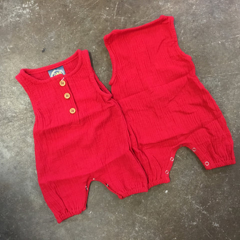 Noah Romper in Red - Emma Jean Fall 2019  1085