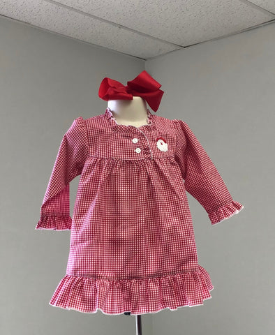 Red Gingham Santa Gown Infant Girl Sweet Dreams 422 Fall 2019