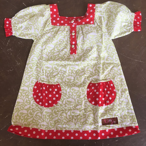 Whimsy Wishes Yoke Dress w/ Pockets for Girls - Millie Jay  507