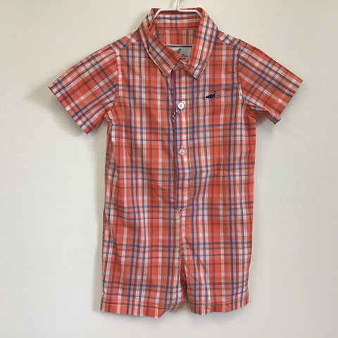 Lil Ducklings Infant Woven Onepiece in Fox Run - Properly Tied