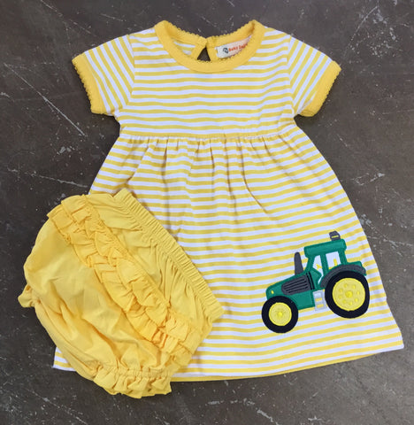 Tractor Applique Dress 2pc. Set - Baby Luigi Spring 2019 290