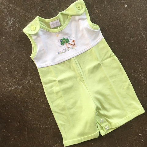Animals & Palm Yoke Sunsuit - Squiggles by: Charlie  320