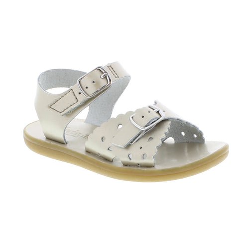 Footmates Ariel Sandal in Soft Gold - Badorf Kids