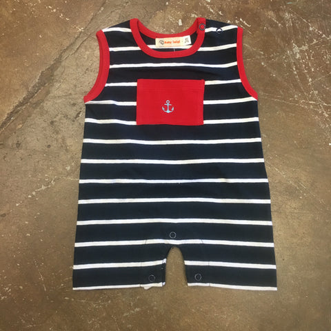 Anchor Sleeveless Romper - Baby Luigi  286