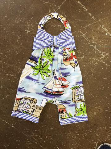 Sail Sea Romper With Halter Neck By Sassy Me #94
