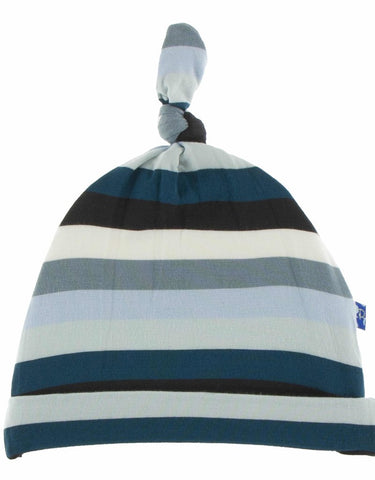 Meteorology Stripe Knotted Infant Hat  Kickee Pants Fall 2019