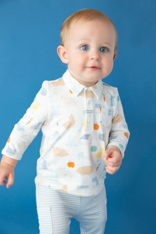 Little Farm Polo & Cargo Pant Set - Angel Dear Fall 2019 5350