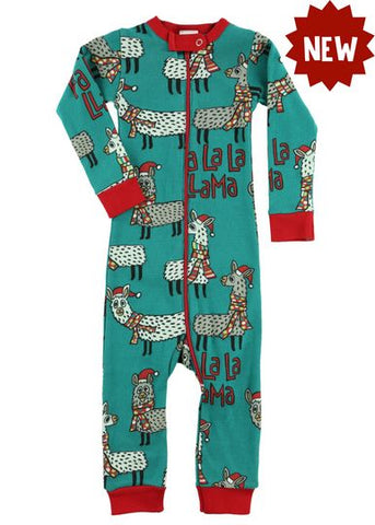 Fa La La Llama Infant Unionsuit - Lazy One Fall 2018