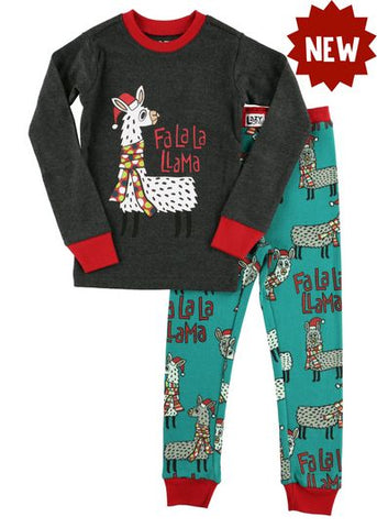 Fa La La Llama Kids Pajama Set - Lazy One Fall 2018