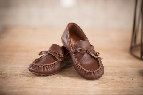 Brown Leather Loafer - The Oaks Apparel 5536