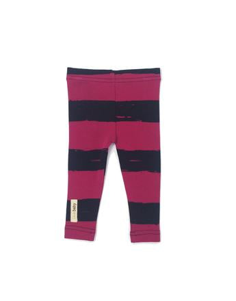 L'ovedBaby Legging - Magenta Painters Stripe Make a Statement