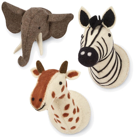 Mini Safari Wall Mounts - Mud Pie