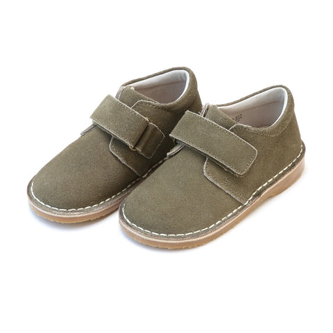 Boys Oliver Stitch Down Velcro Boot in Olive - L'Amour F517