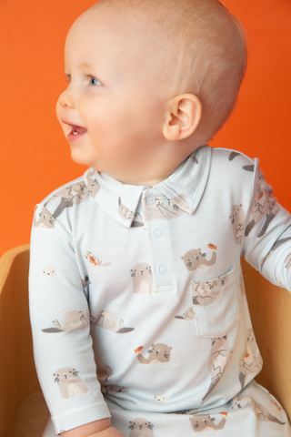 Otter Polo Romper - Angel Dear Fall 2019 5325