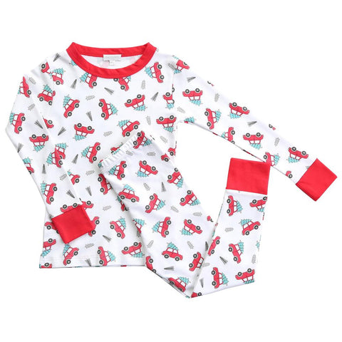 Picking the Best Tree Long Sleeve Pajamas w/ Red - Magnolia Baby Fall 2019