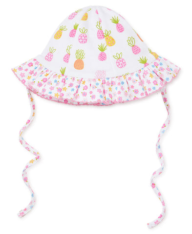 Kissy Kissy Reversible Floppy Hat in Pineapples/Floral  - Spring 2019